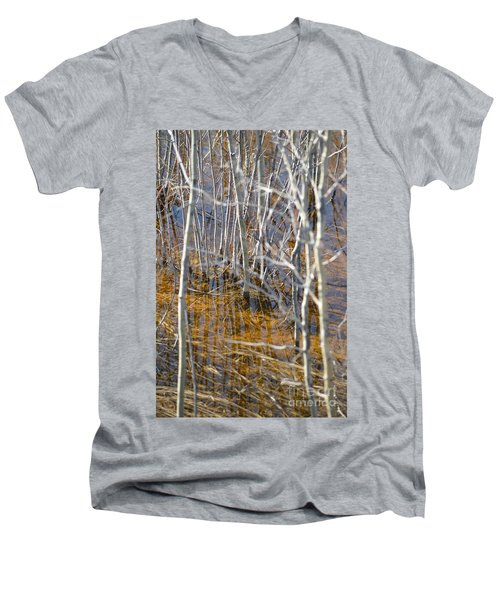 Men's V-Neck T-Shirt featuring the photograph Ghost Willows by Brian Boyle