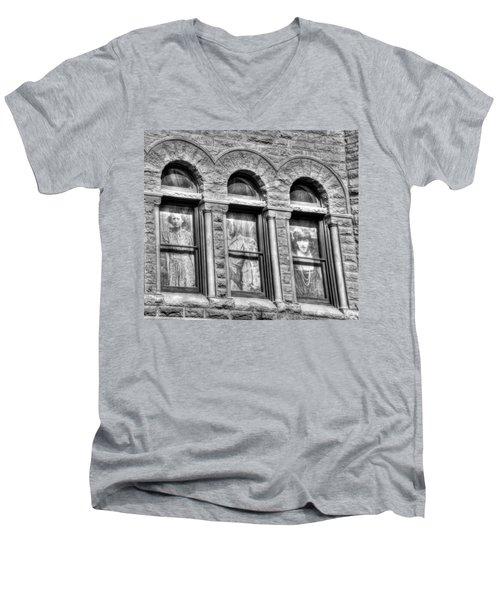 Ghosts Men's V-Neck T-Shirt by Mark Alder