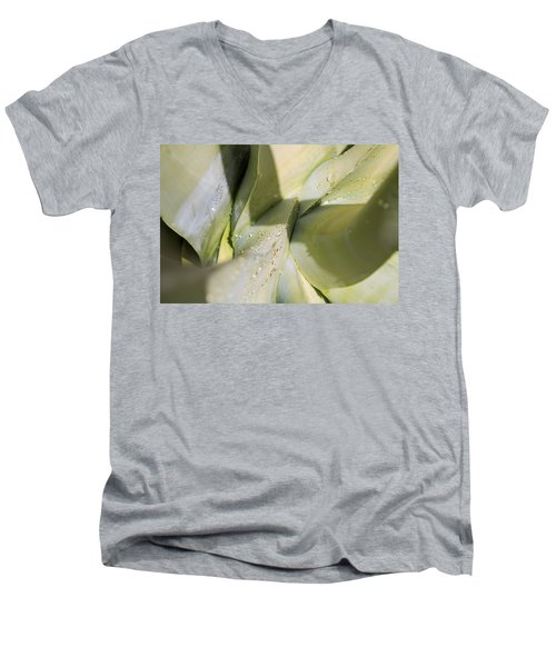 Giant Agave Abstract 3 Men's V-Neck T-Shirt