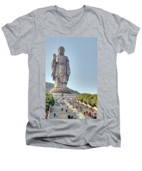Giant Buddha Men's V-Neck T-Shirt