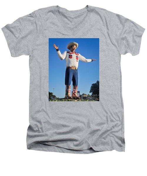 Giant Cowboy Big Tex State Fair Of Texas Men's V-Neck T-Shirt