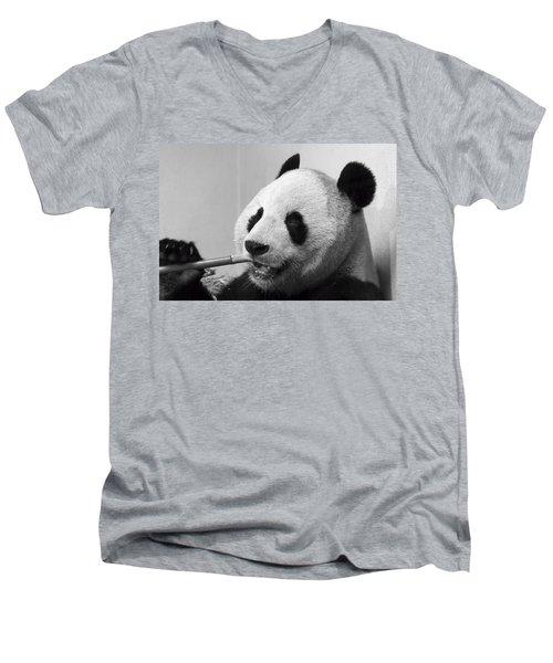 Giant Panda Men's V-Neck T-Shirt