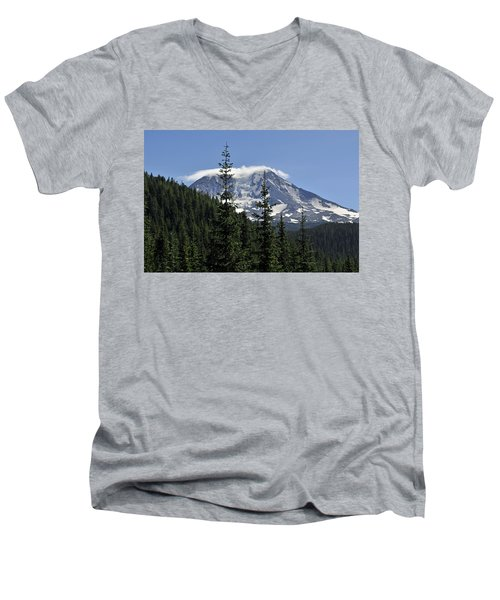 Gifford Pinchot National Forest And Mt. Adams Men's V-Neck T-Shirt
