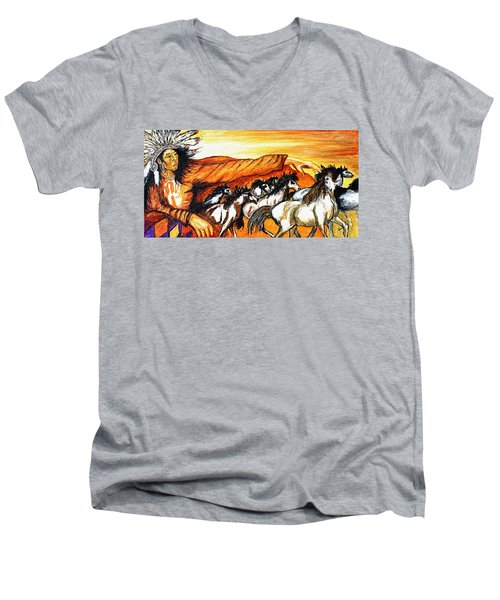 Gift Of The Pinto Men's V-Neck T-Shirt