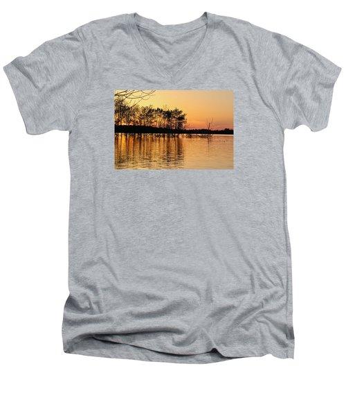 Gilded Sunset Men's V-Neck T-Shirt