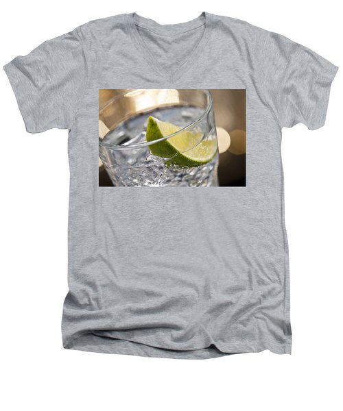 Gin Tonic Cocktail Men's V-Neck T-Shirt