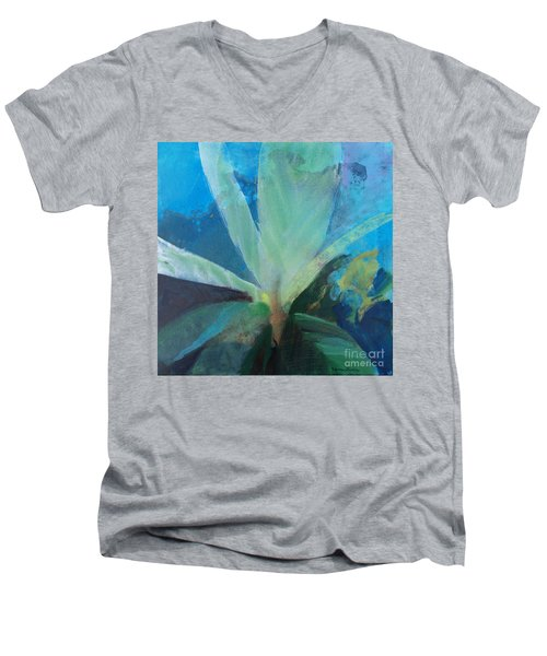 Men's V-Neck T-Shirt featuring the painting Ginger Tea by Robin Maria Pedrero