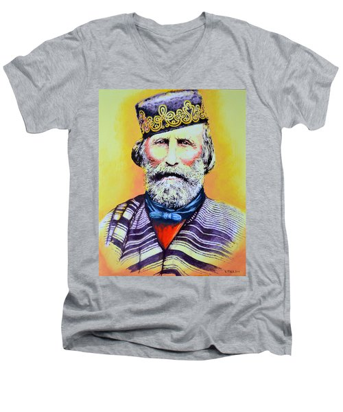 Giuseppe Garibaldi Men's V-Neck T-Shirt