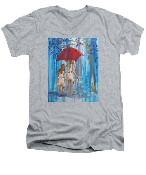 Give Me Shelter Men's V-Neck T-Shirt by Terri Einer