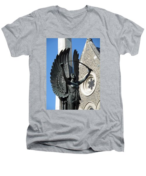 Give Us Peace In Our Time Men's V-Neck T-Shirt