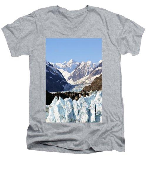 Men's V-Neck T-Shirt featuring the photograph Glacier Bay Alaska by Sonya Lang