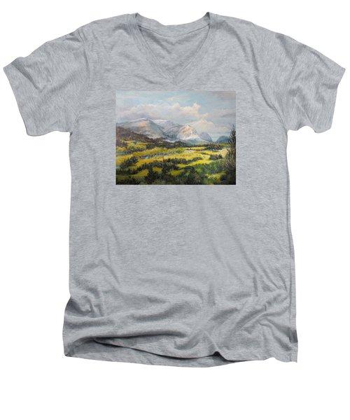 Glacier Splendor Men's V-Neck T-Shirt