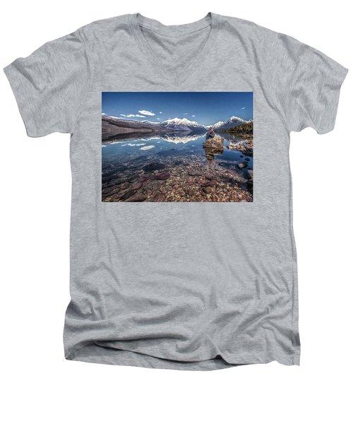 Glacier Zen Men's V-Neck T-Shirt