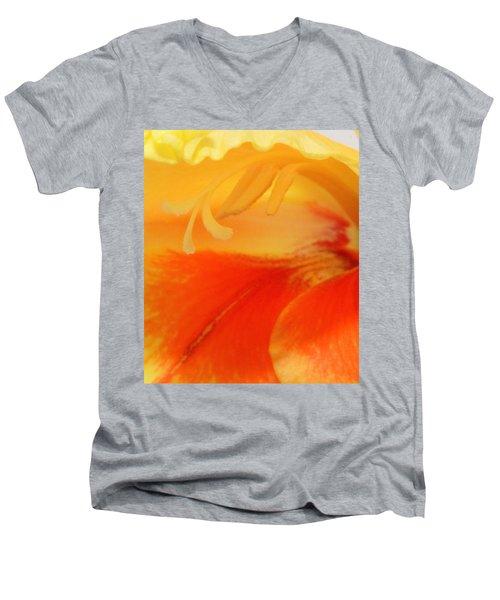 Gladiola Hello Men's V-Neck T-Shirt by Deborah  Crew-Johnson