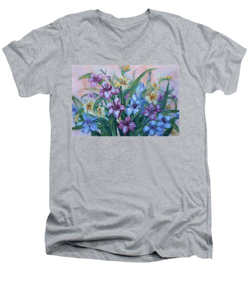 Gladiolus Men's V-Neck T-Shirt