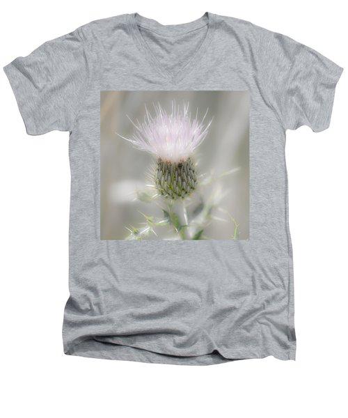 Glimmering Thistle Men's V-Neck T-Shirt