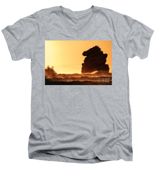 Glorious Afternoon At Morro Bay Men's V-Neck T-Shirt
