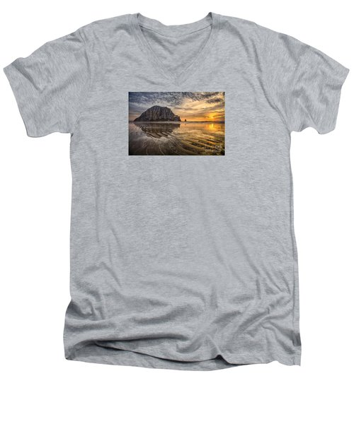 Glorious Men's V-Neck T-Shirt by Alice Cahill