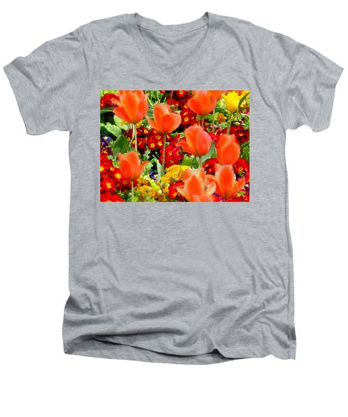 Glorious Garden Men's V-Neck T-Shirt by Bruce Nutting