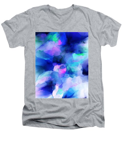 Men's V-Neck T-Shirt featuring the digital art Glory Morning by David Lane