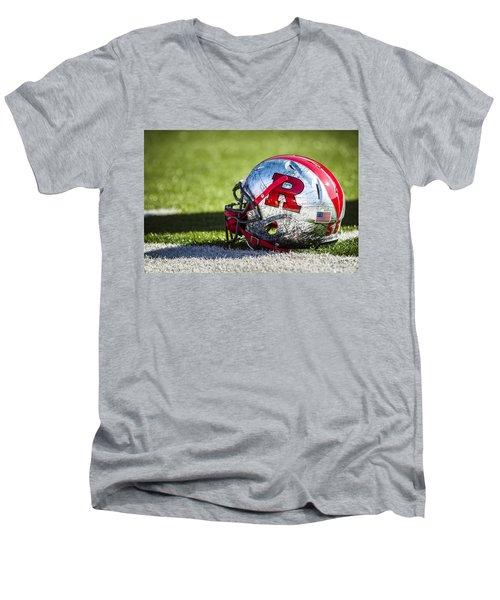 Go Rutgers Men's V-Neck T-Shirt by Eduard Moldoveanu