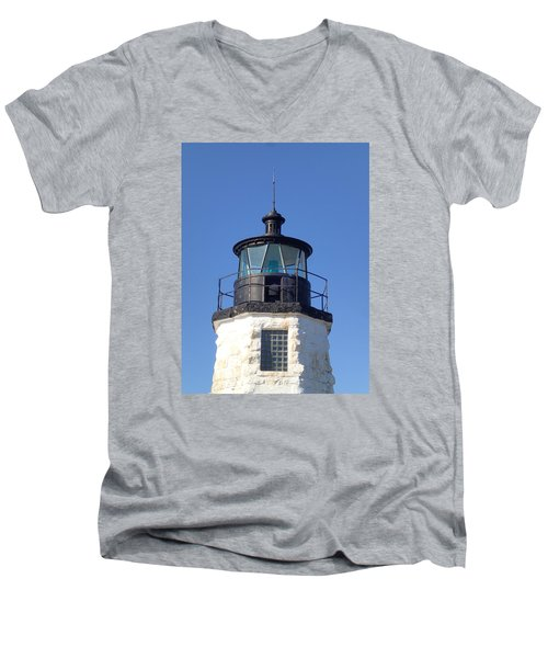 Goat Island Lighthouse Men's V-Neck T-Shirt