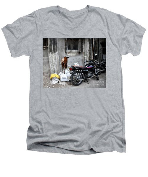 Goatercycle Men's V-Neck T-Shirt