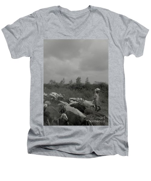 Goatherd's Delight Men's V-Neck T-Shirt