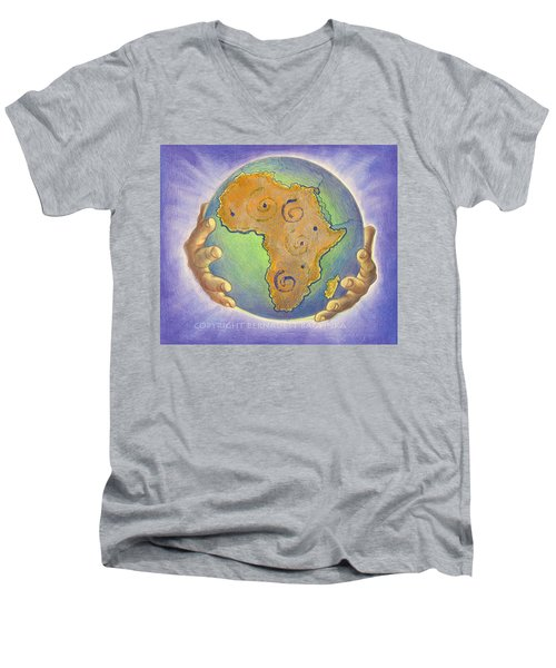 God Bless Africa Men's V-Neck T-Shirt