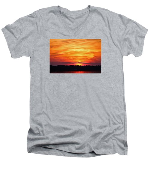 God Paints The Sky Men's V-Neck T-Shirt
