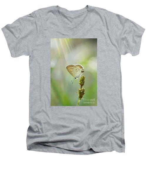God's Love Shining Down Men's V-Neck T-Shirt by Debbie Green