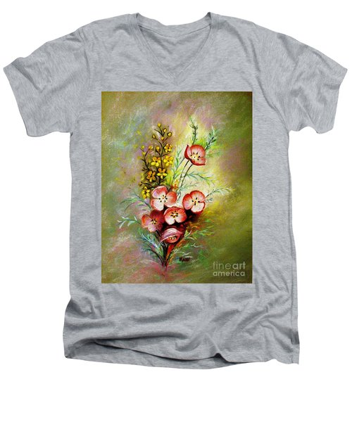 God's Smile Men's V-Neck T-Shirt by Hazel Holland