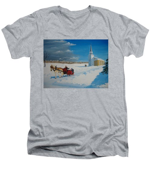 Going Home From Church Men's V-Neck T-Shirt