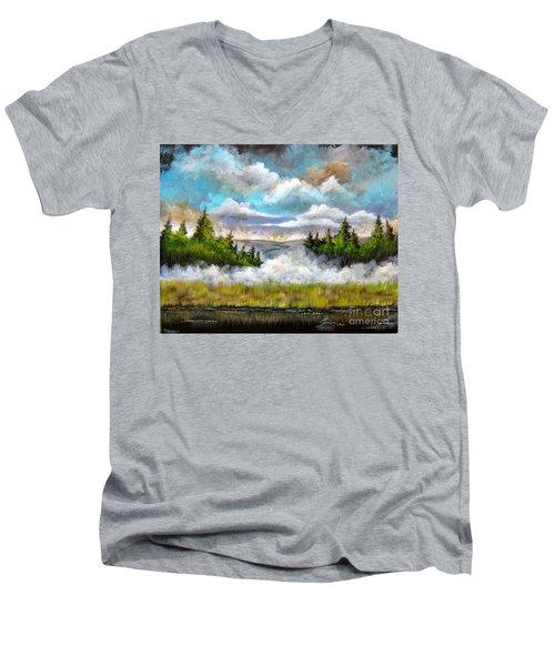 Going Home Men's V-Neck T-Shirt by Patrice Torrillo