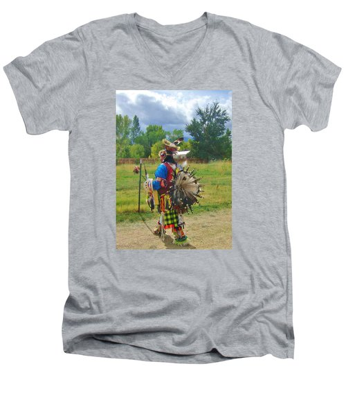 Men's V-Neck T-Shirt featuring the photograph Going To The Pow Wow by Marilyn Diaz