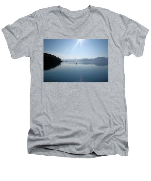 Men's V-Neck T-Shirt featuring the photograph Gokova Bay  by Tracey Harrington-Simpson