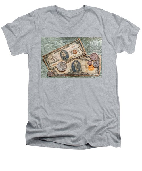 Gold Certificate And Silver Coins Ver 2 Men's V-Neck T-Shirt