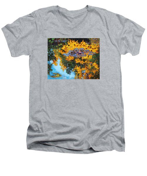 Gold Reflections Men's V-Neck T-Shirt