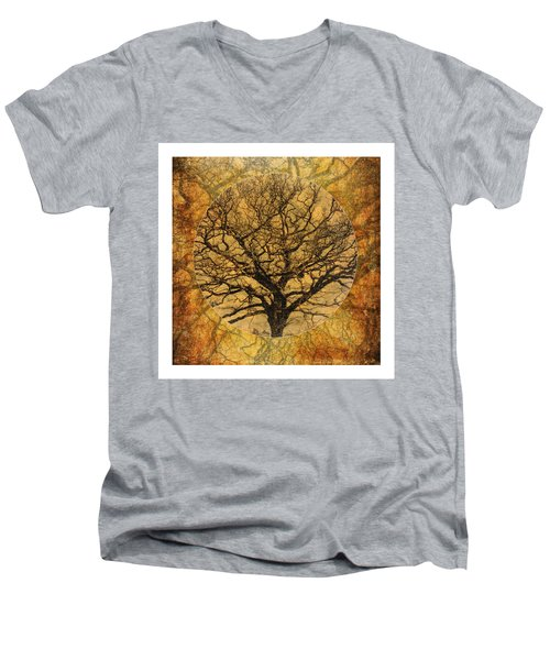 Golden Autumnal Trees Men's V-Neck T-Shirt
