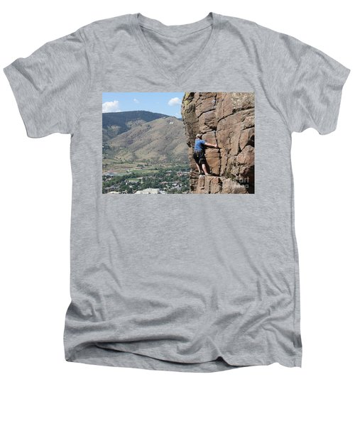 Golden Climbing Men's V-Neck T-Shirt
