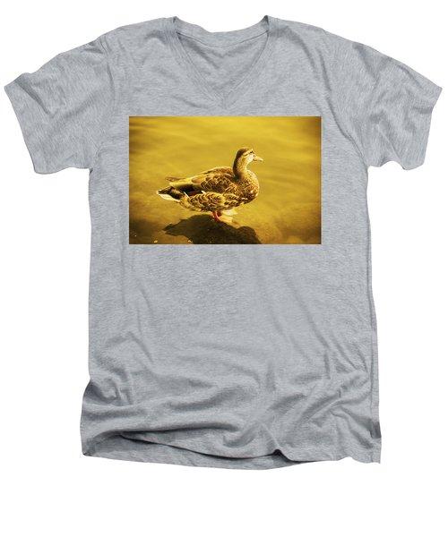 Golden Duck Men's V-Neck T-Shirt
