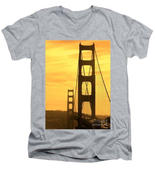 Golden Gate Bridge  Men's V-Neck T-Shirt by Clare Bevan