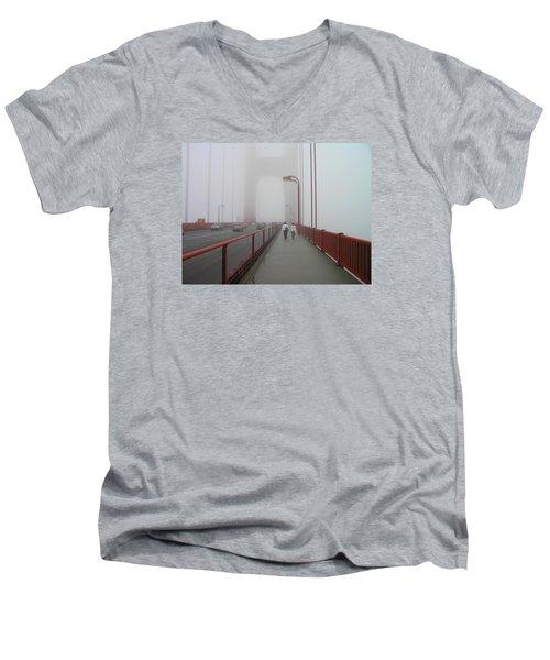 G. G. Bridge Walking Men's V-Neck T-Shirt by Oleg Zavarzin