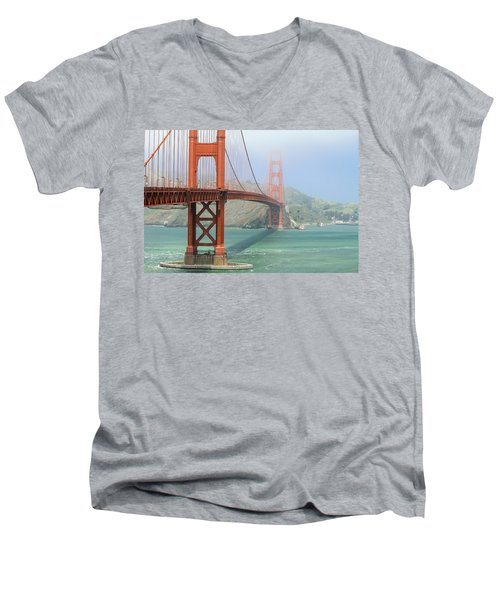 Men's V-Neck T-Shirt featuring the photograph Golden Gate by Steven Bateson
