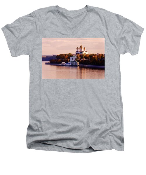 Golden Hour. Yaroslavl. Russia Men's V-Neck T-Shirt