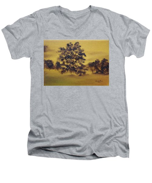 Golden Landscape Men's V-Neck T-Shirt by Judith Rhue