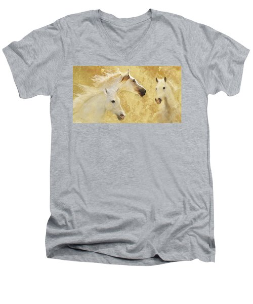 Golden Steeds Men's V-Neck T-Shirt