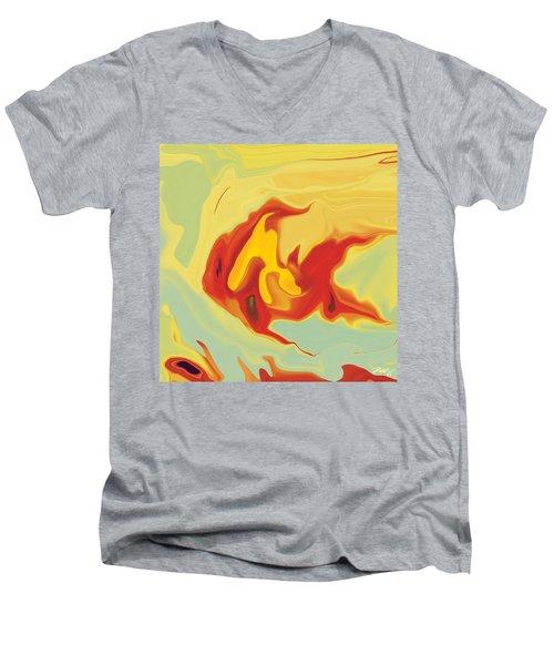 Goldfish 2 Men's V-Neck T-Shirt by Rabi Khan