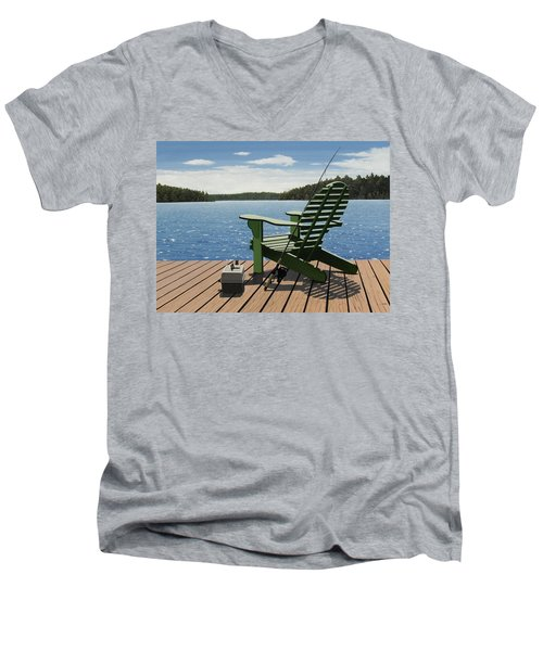 Gone Fishing Men's V-Neck T-Shirt