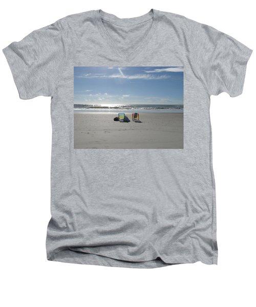Gone For A Walk Men's V-Neck T-Shirt